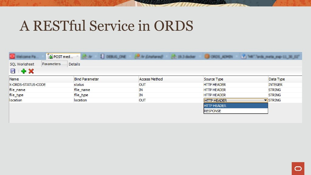 A RESTful Service in ORDS