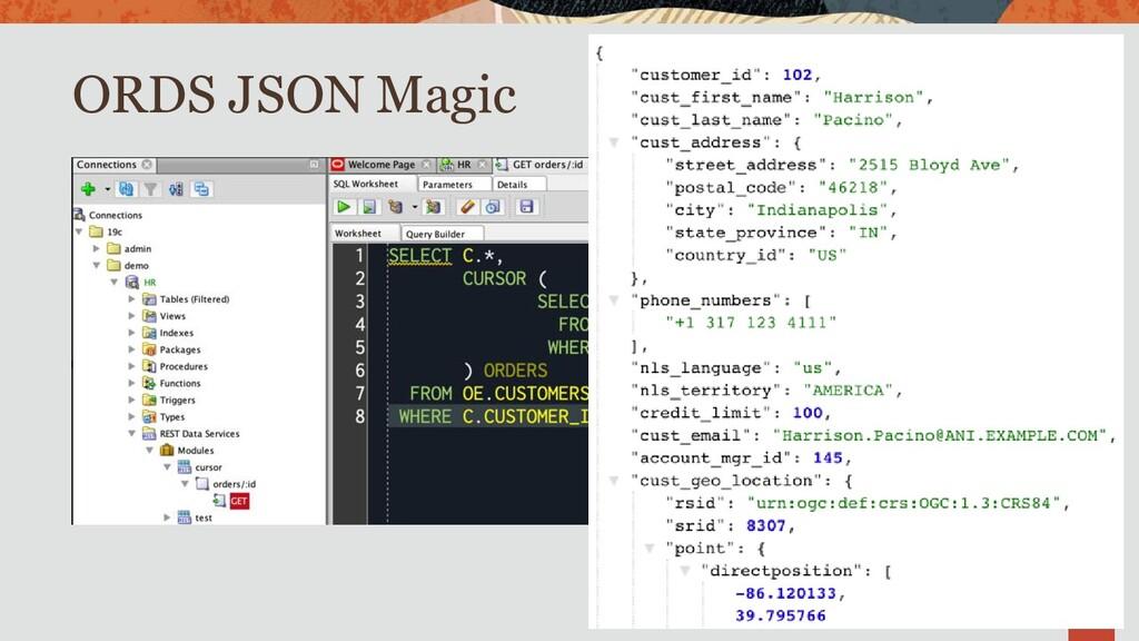 ORDS JSON Magic