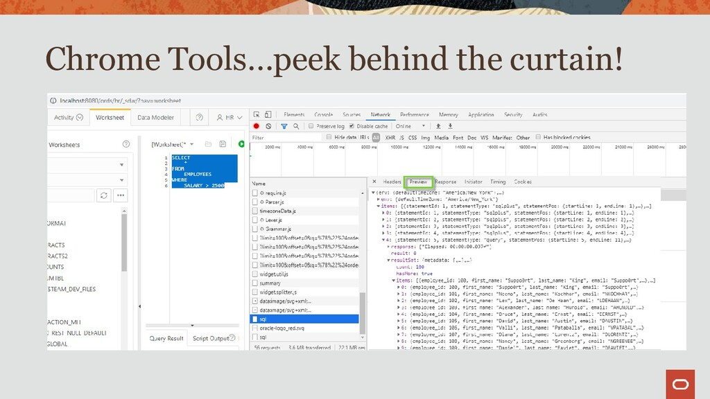 Chrome Tools…peek behind the curtain!