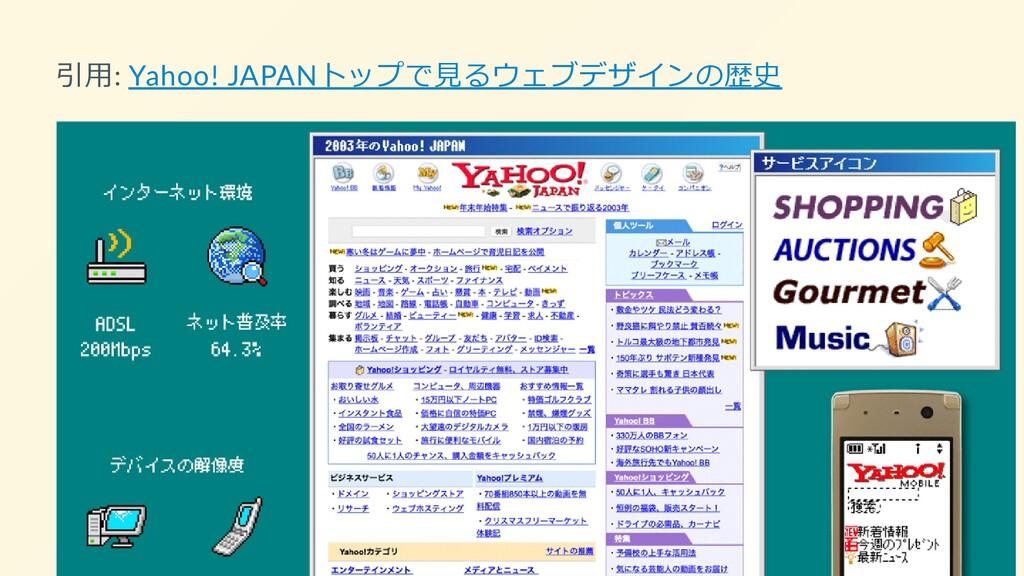 引用: Yahoo! JAPANトップで見るウェブデザインの歴史