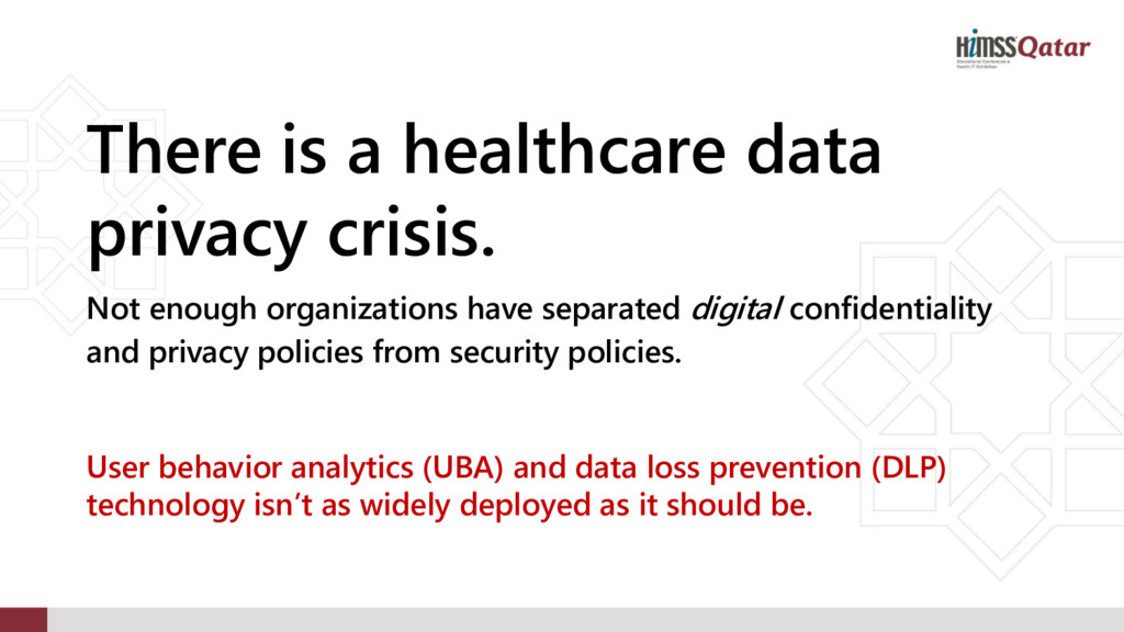 There is a healthcare data privacy crisis. Not ...