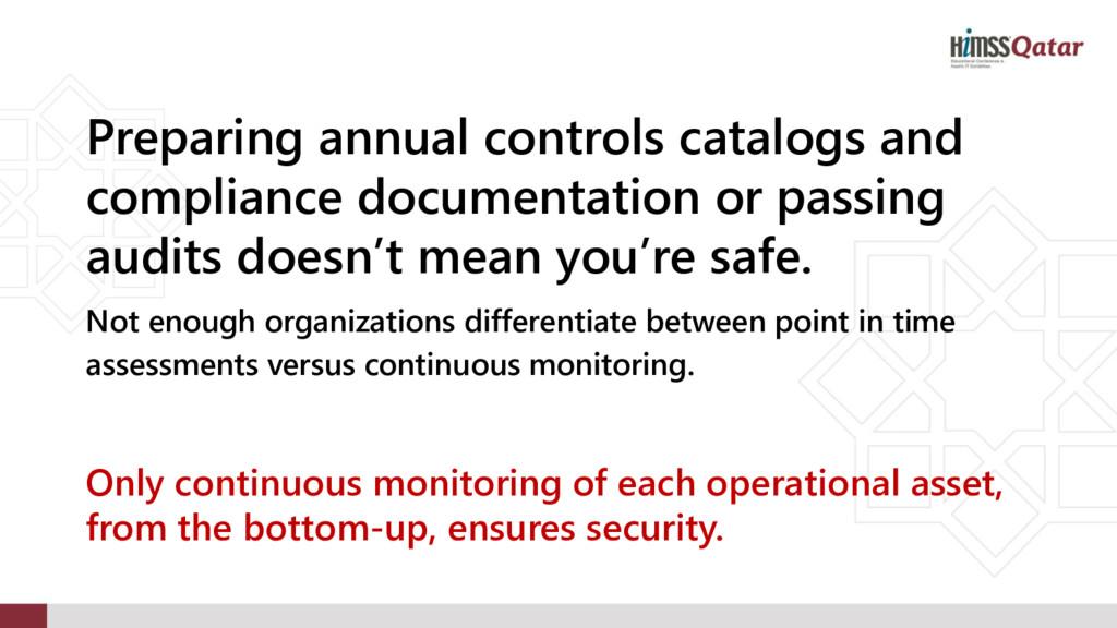 Preparing annual controls catalogs and complian...