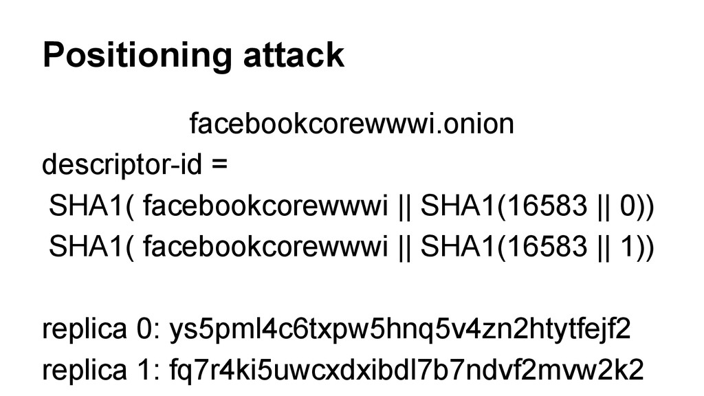 Positioning attack facebookcorewwwi.onion descr...