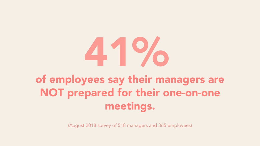 of employees say their managers are NOT prepare...