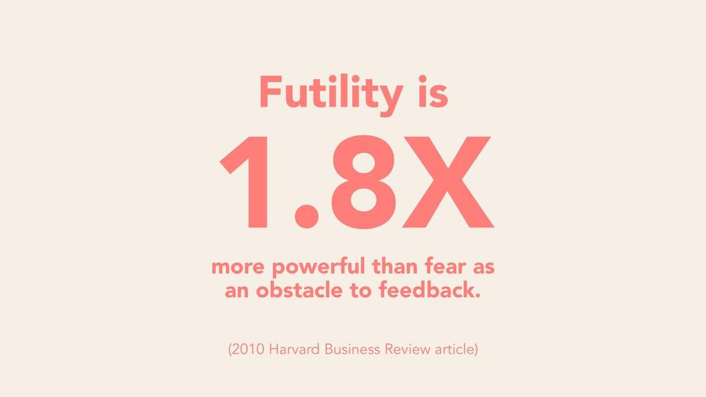 1.8X Futility is more powerful than fear as an ...