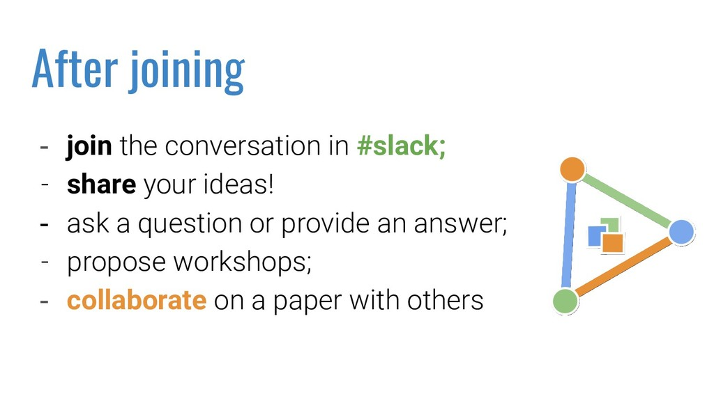 - join the conversation in #slack; - share your...