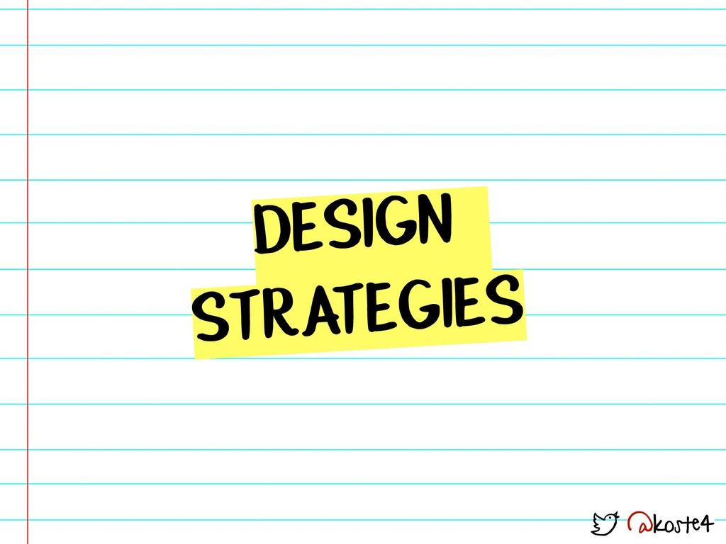 @koste4 DESIGN STRATEGIES