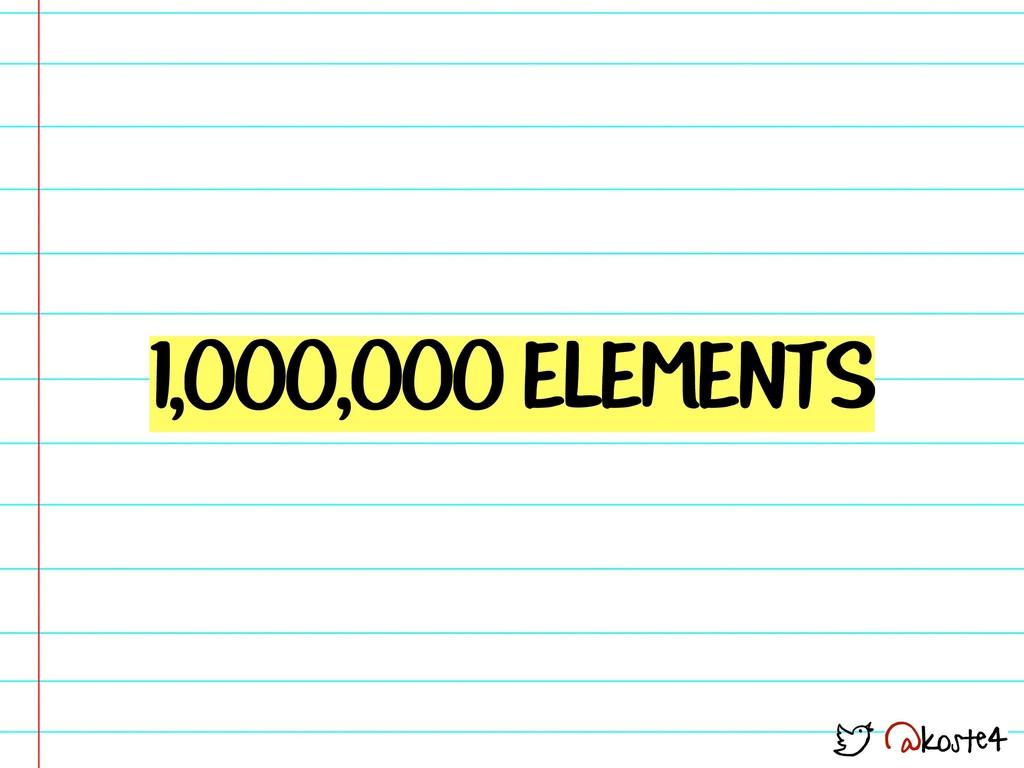 @koste4 1,000,000 ELEMENTS