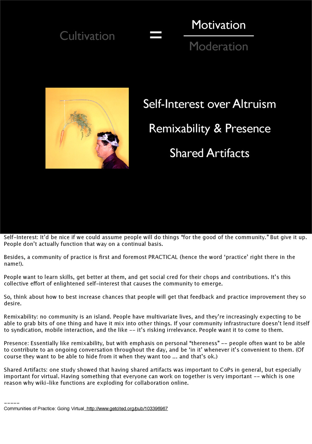 Self-Interest over Altruism Remixability & Pres...