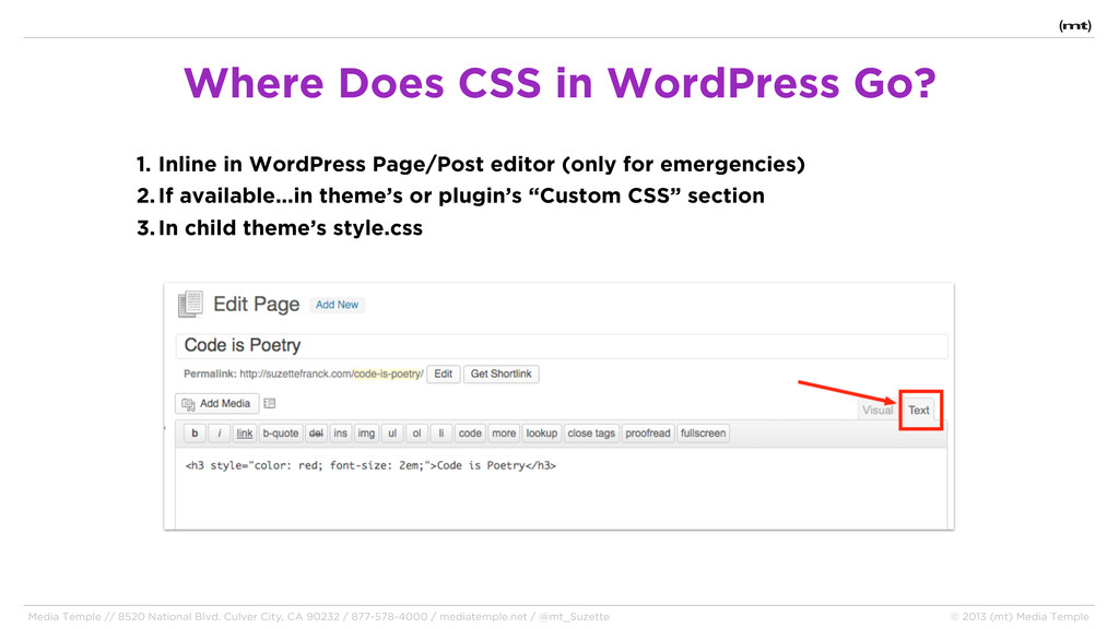 1. Inline in WordPress Page/Post editor (only f...
