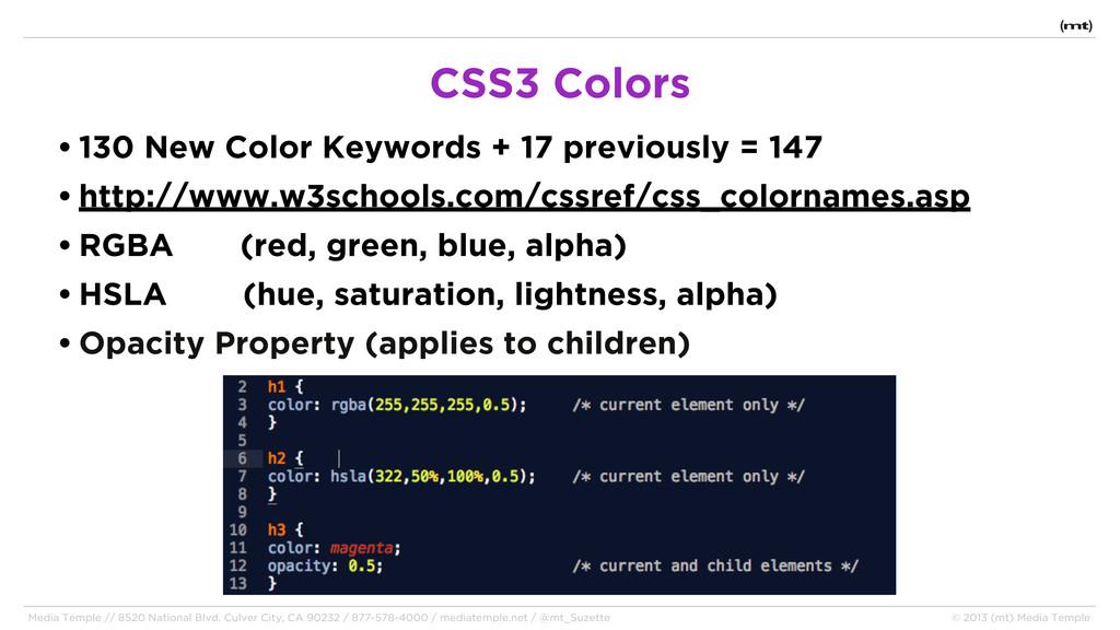 • 130 New Color Keywords + 17 previously = 147 ...