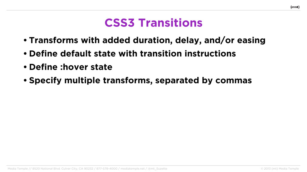 • Transforms with added duration, delay, and/or...