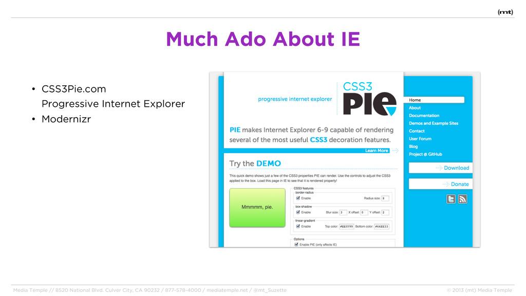 • CSS3Pie.com Progressive Internet Explorer • M...