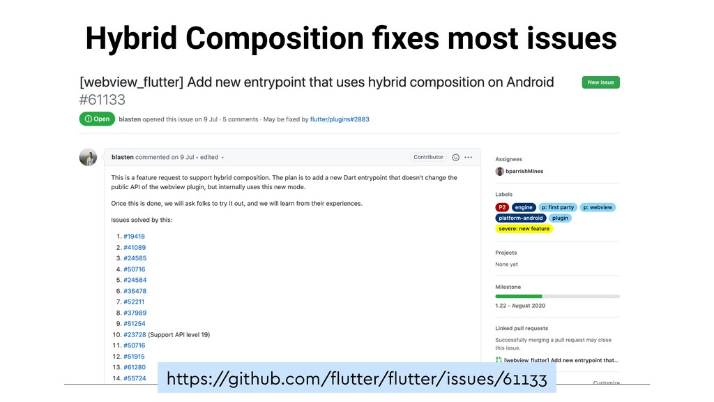 Hybrid Composition fixes most issues https:/ /gi...