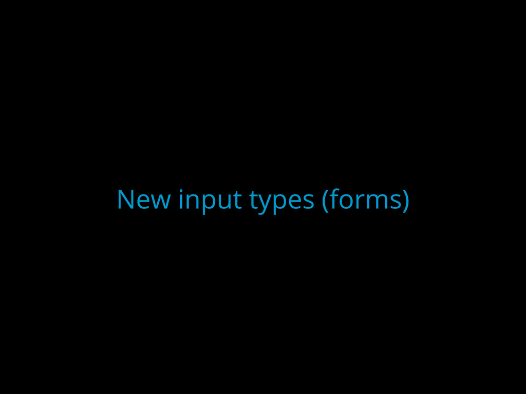 New input types (forms)