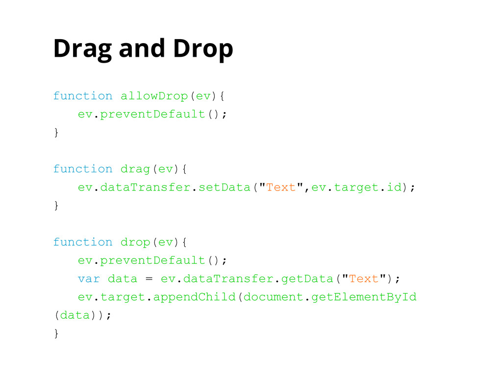 Drag and Drop function allowDrop(ev){ ev.preven...