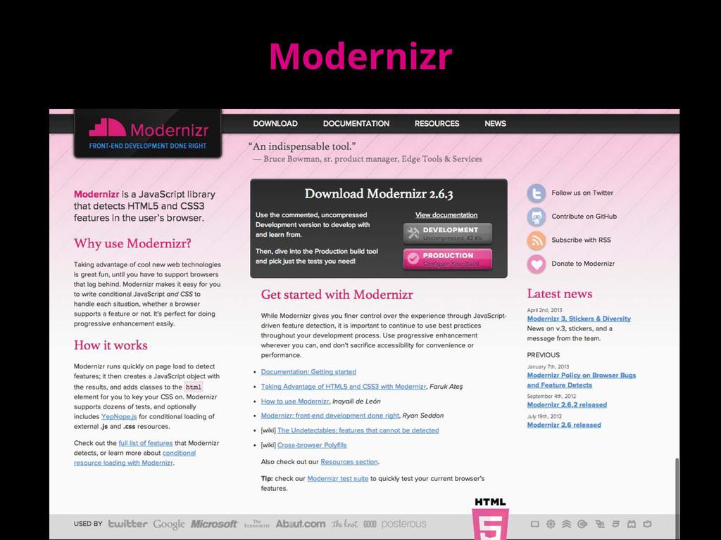 Modernizr