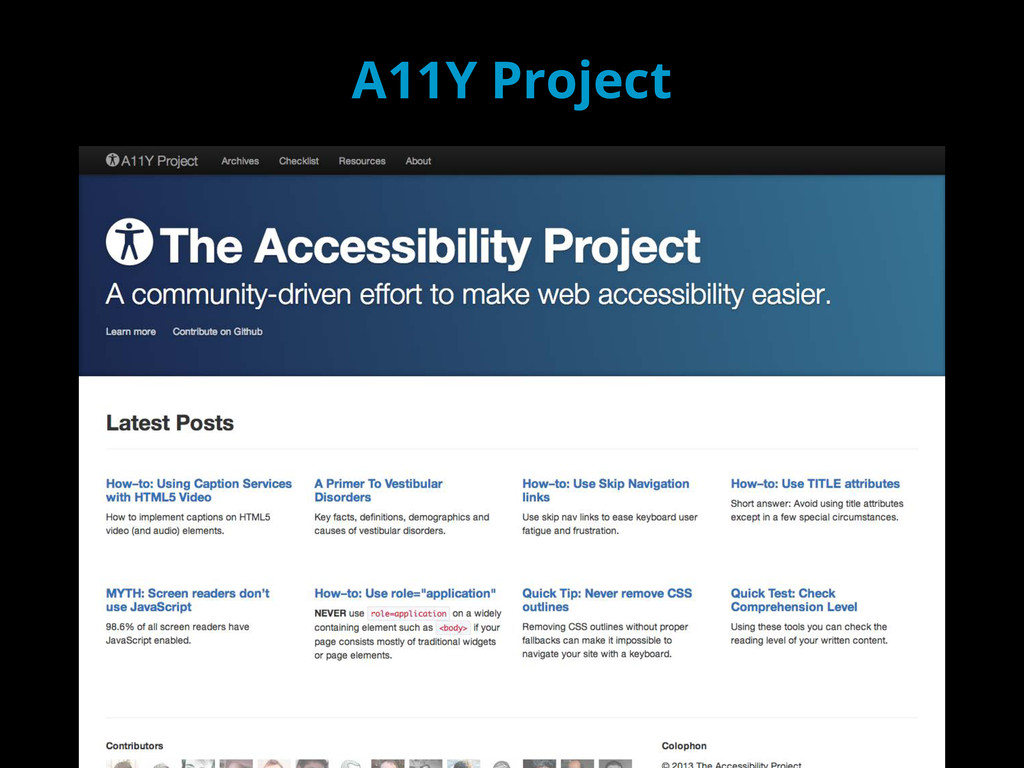 A11Y Project