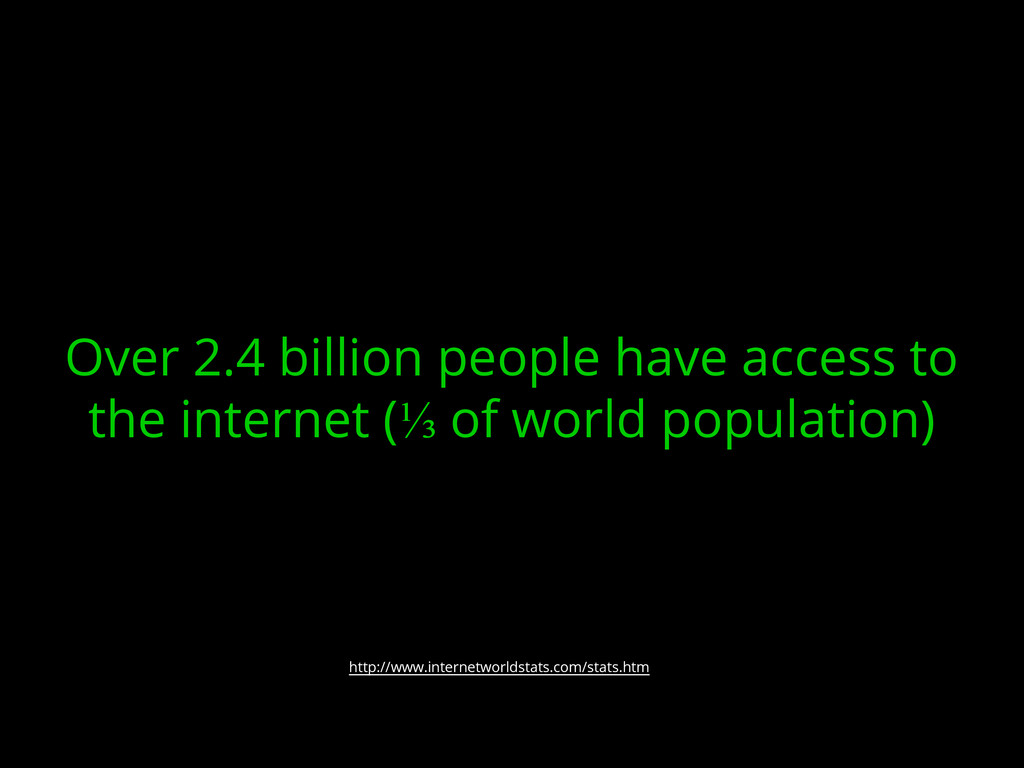 Over 2.4 billion people have access to the inte...