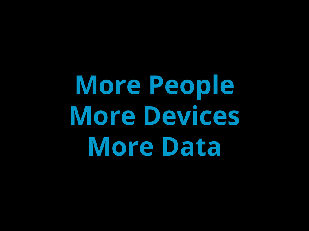 More People More Devices More Data