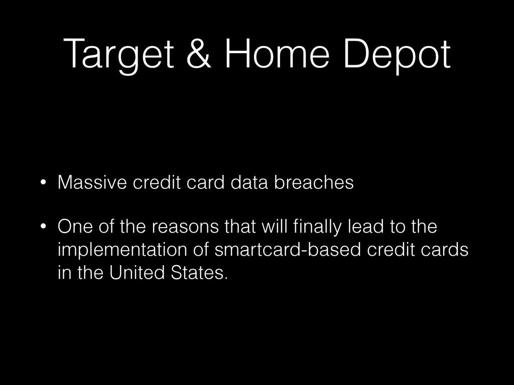 Target & Home Depot • Massive credit card data ...