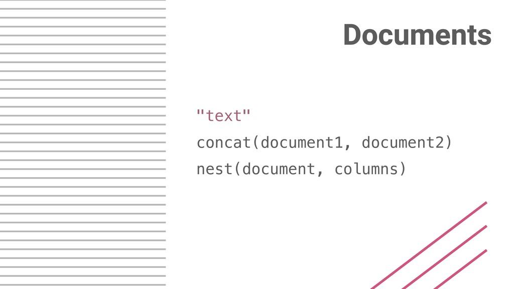 "Documents ""text"" concat(document1, document2) n..."