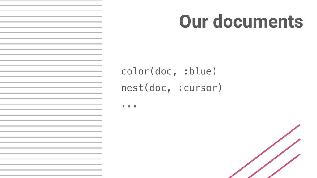 Our documents color(doc, :blue) nest(doc, :curs...