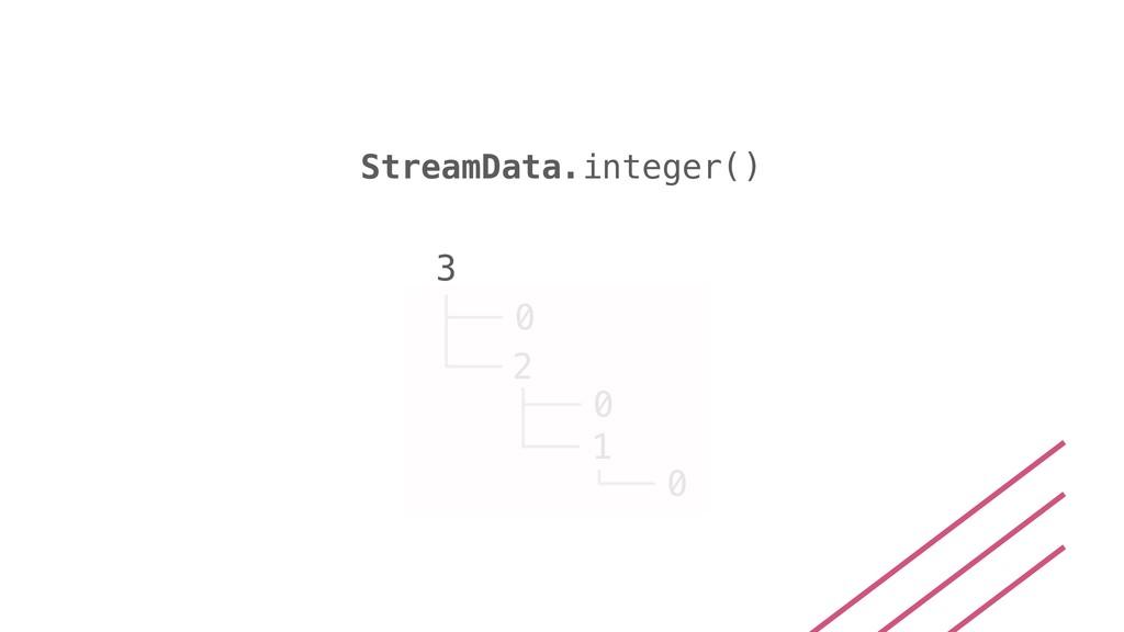 StreamData.integer() 3 0 2 0 1 0
