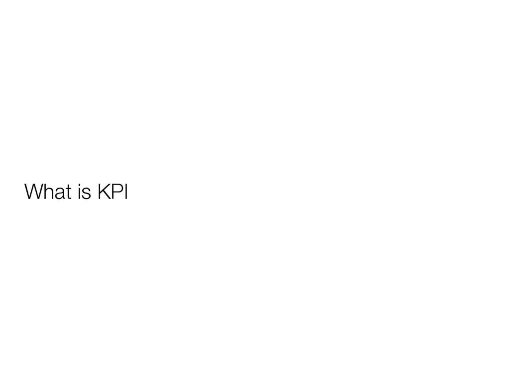 What is KPI