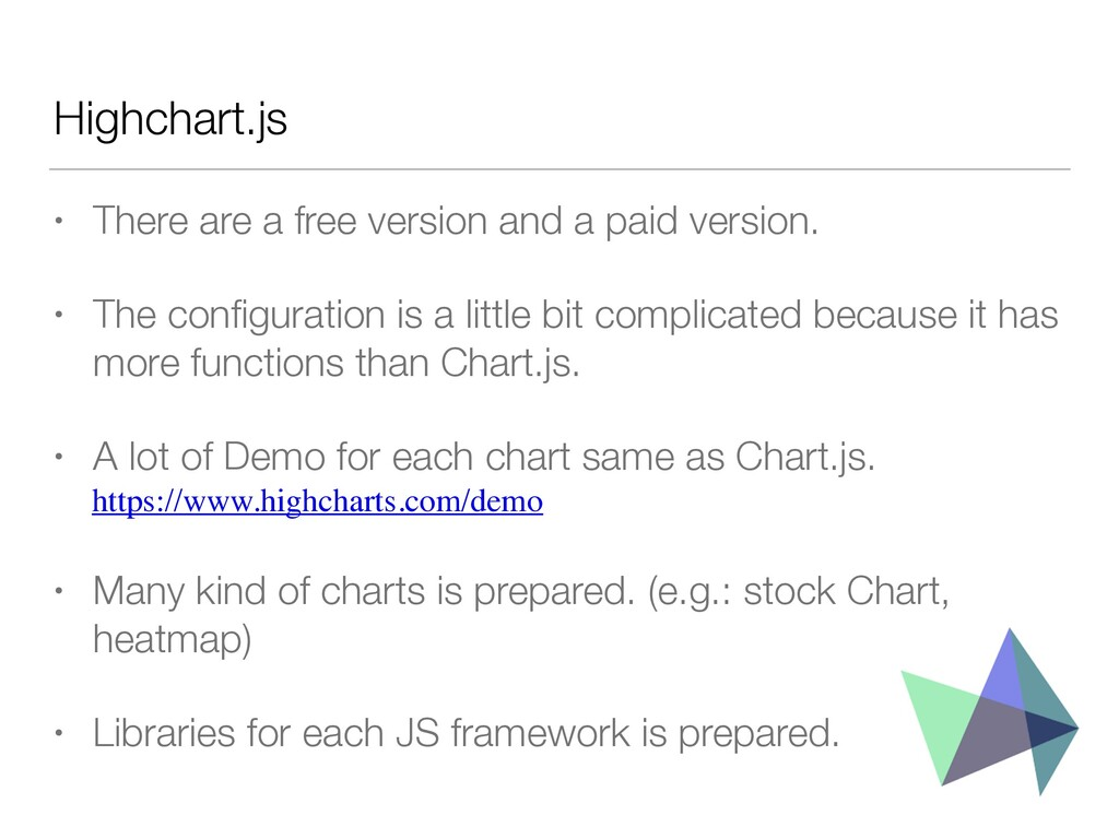 Highchart.js • There are a free version and a p...