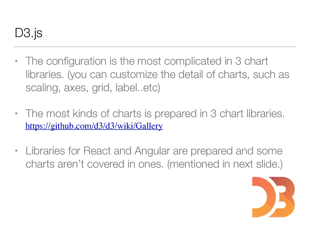 D3.js • The configuration is the most complicate...