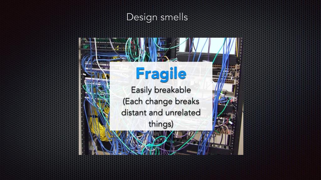 Fragile Easily breakable (Each change breaks di...