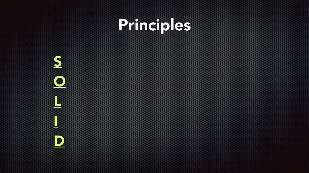 S O L I D Principles