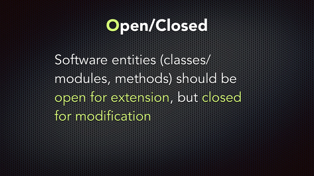 Software entities (classes/ modules, methods) s...