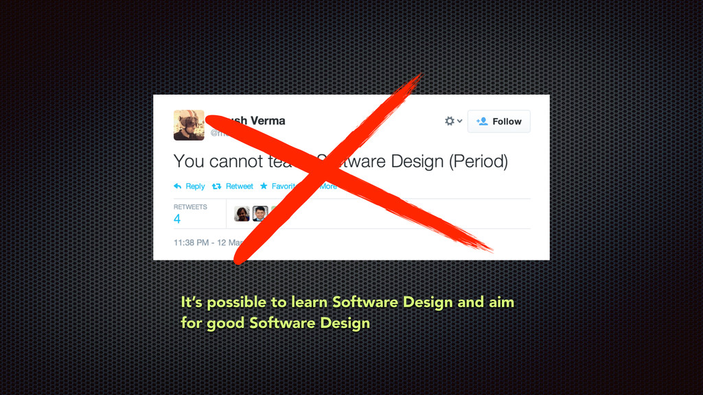 It's possible to learn Software Design and aim ...