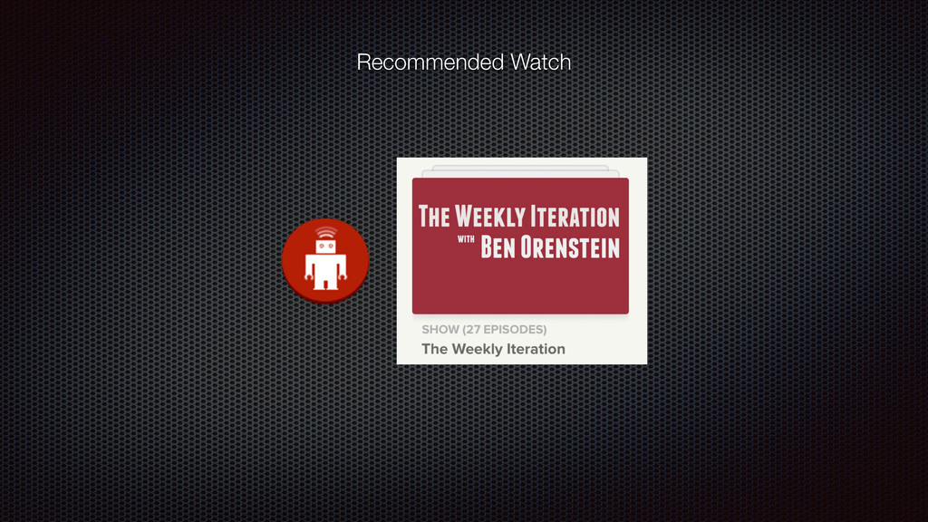 Recommended Watch