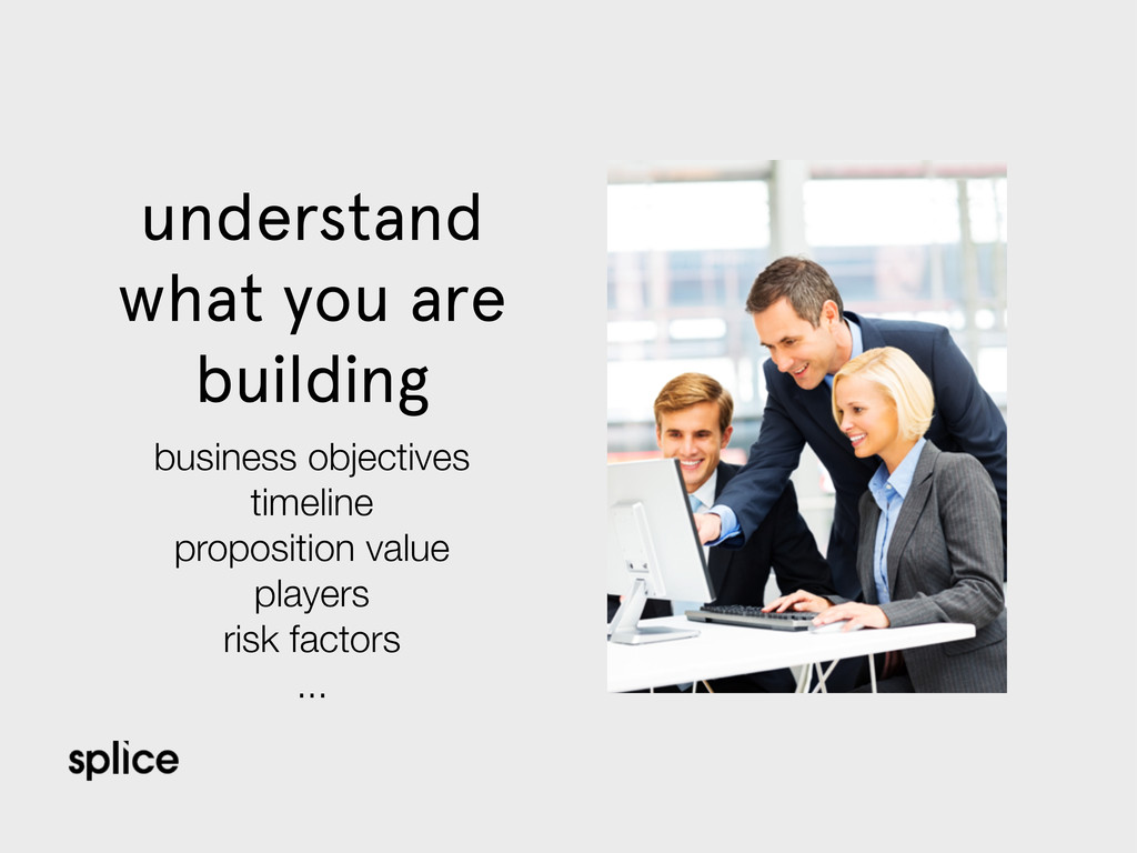 understand what you are building business objec...