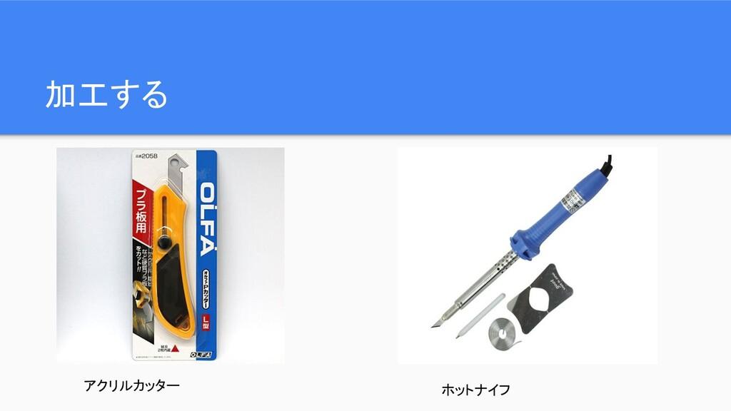 加工する アクリルカッター ホットナイフ