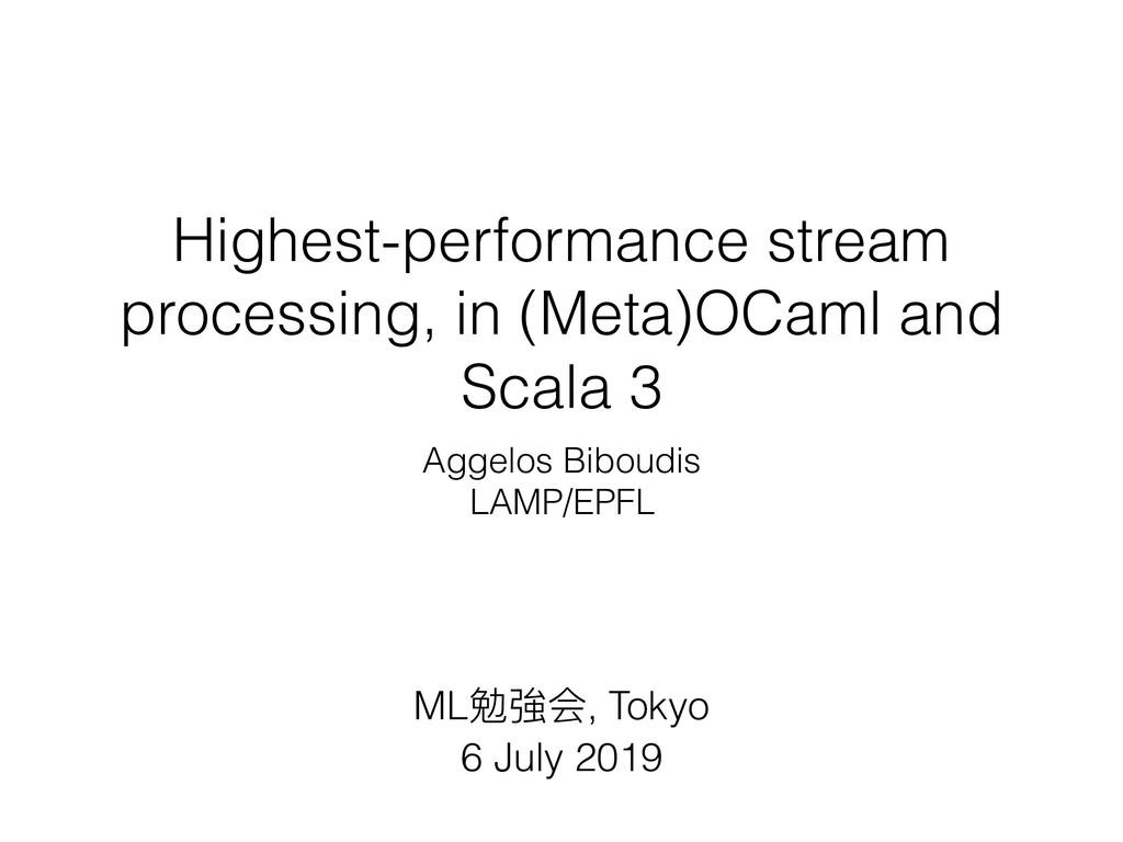Highest-performance stream processing, in (Meta...