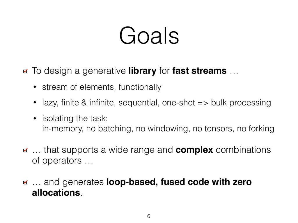 Goals To design a generative library for fast s...