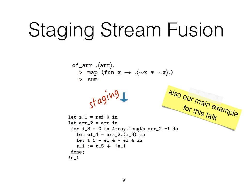 Staging Stream Fusion 9 staging also our main e...