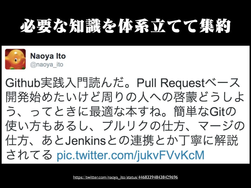 ඞཁͳࣝΛମܥཱͯͯू https://twitter.com/naoya_ito/sta...