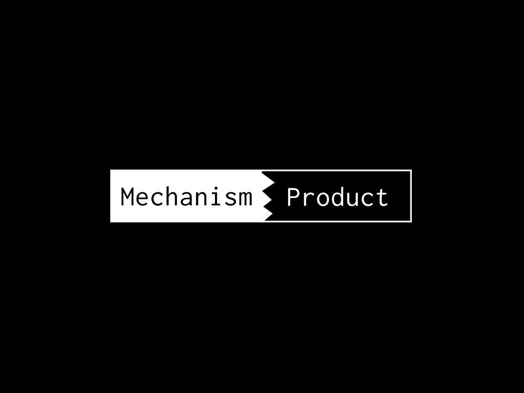 Mechanism Product