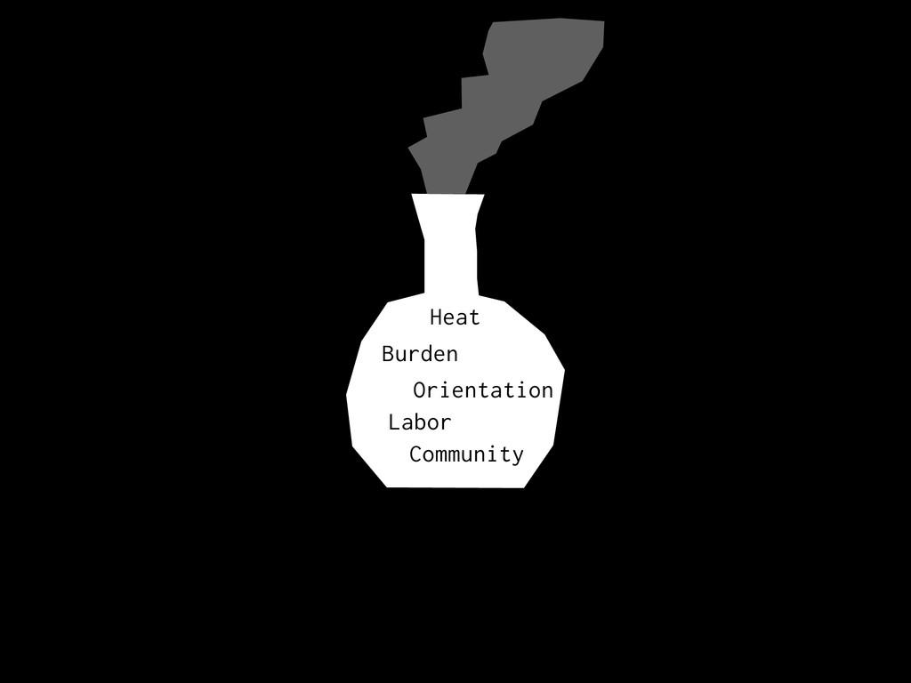 Burden Heat Orientation Labor Community