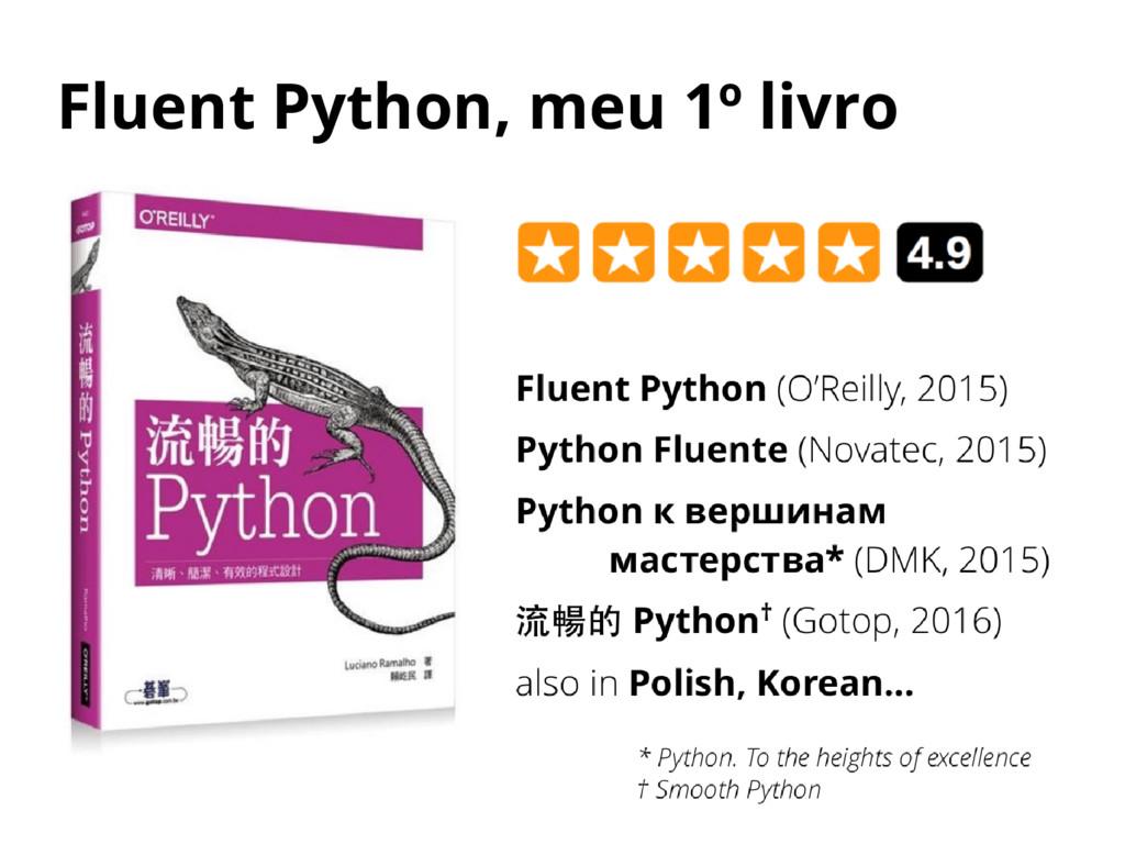 Fluent Python, meu 1º livro