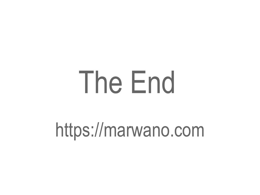 The End https://marwano.com