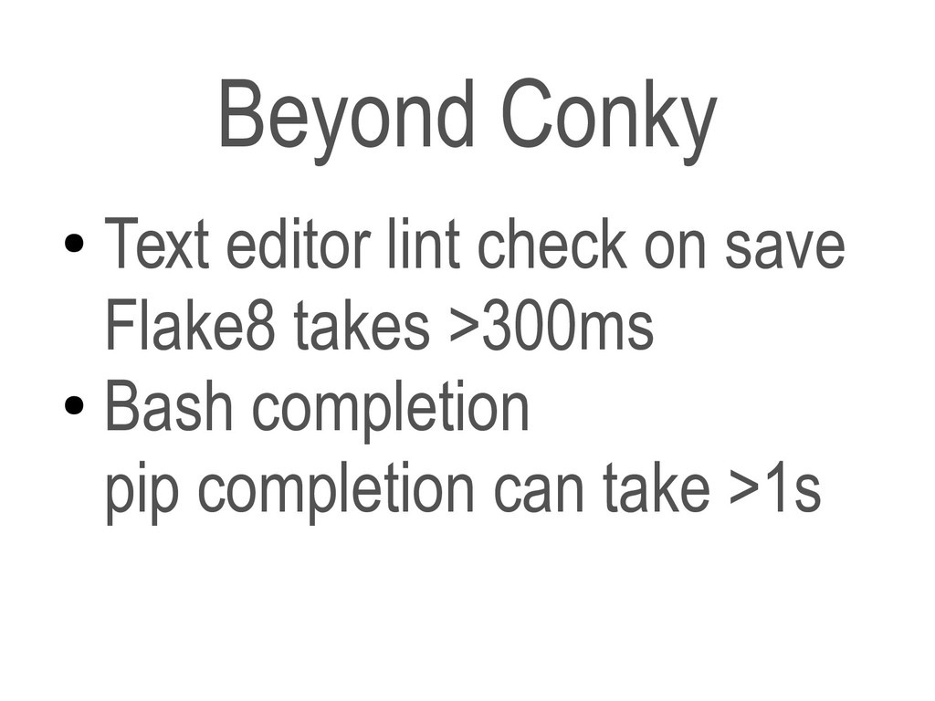 ● Text editor lint check on save Flake8 takes >...