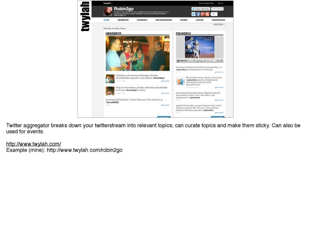 twylah Twitter aggregator breaks down your twit...