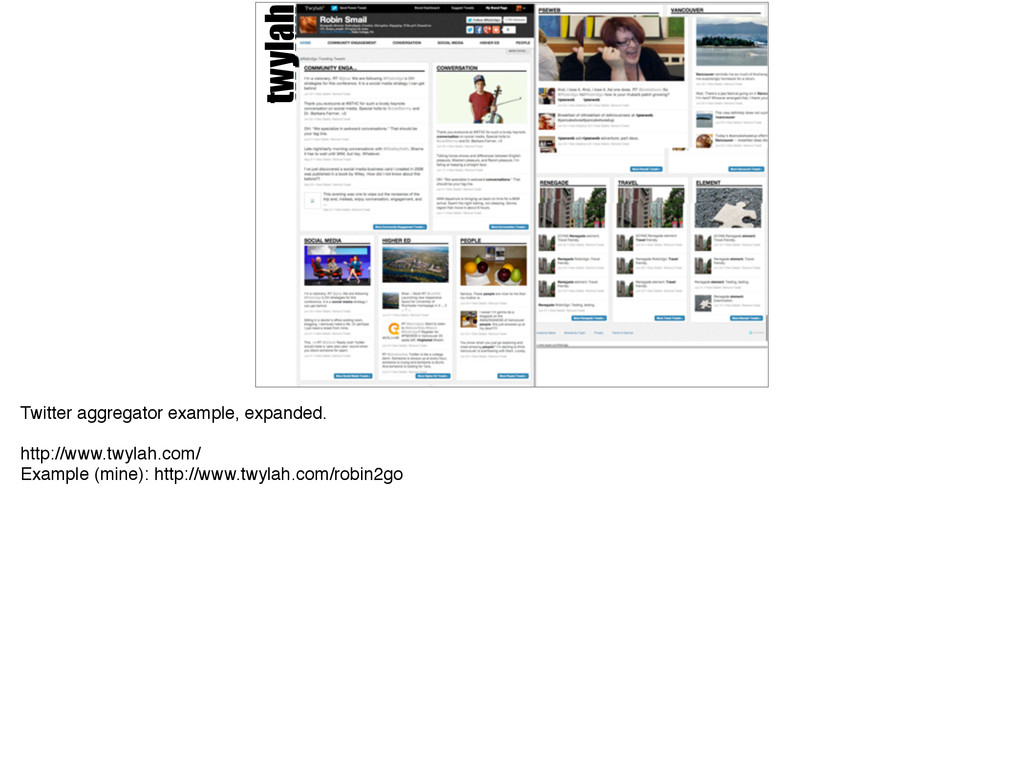 twylah Twitter aggregator example, expanded.! !...