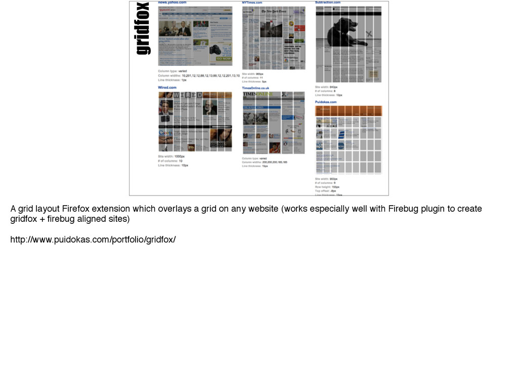 gridfox A grid layout Firefox extension which o...